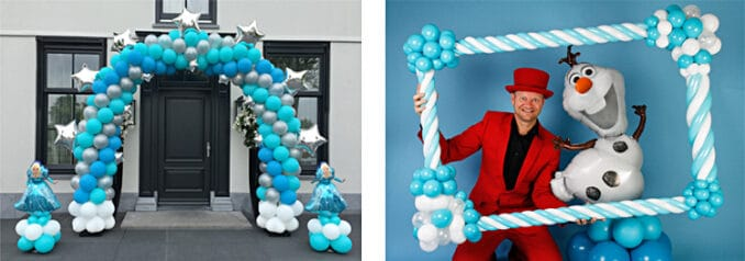 photo frame frozen ballonnenman Pieter