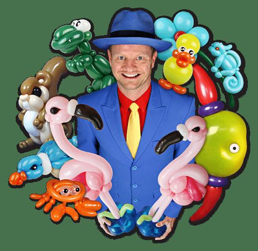 Ballonartiest Pieter van Engen ballonfiguren