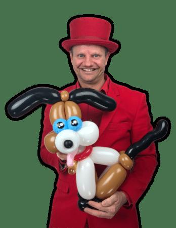 Ballonartiest Pieter ballonnenhond