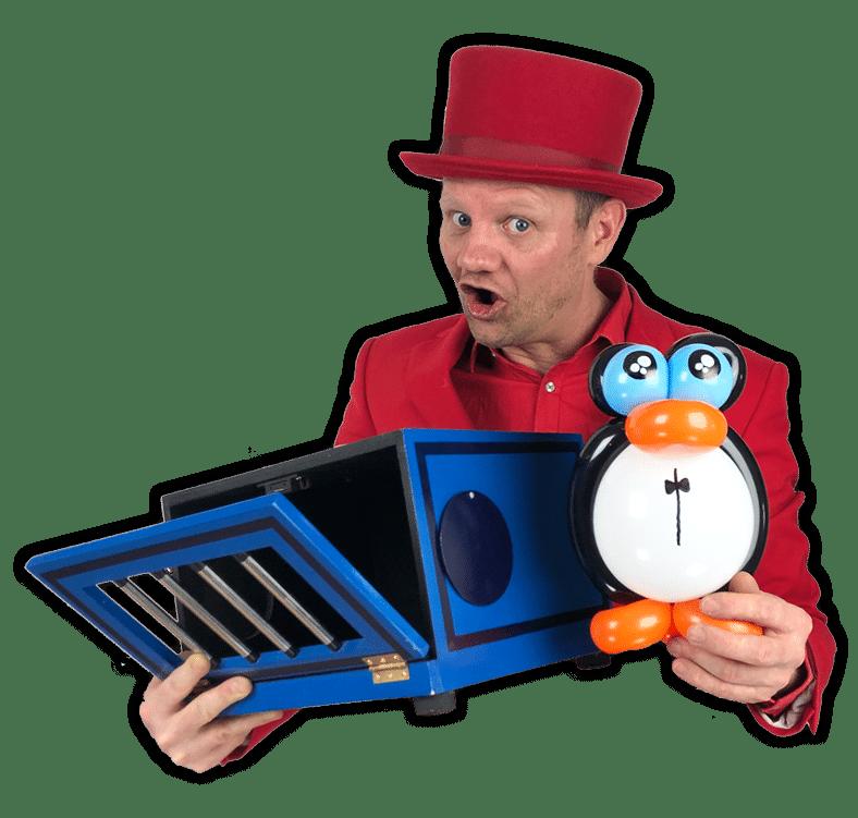 Pinguin kindergoochelaar Pieter