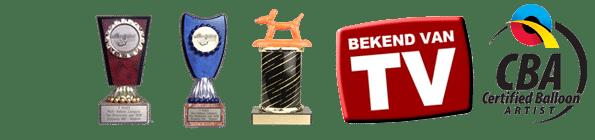 ballonkunstenaar Pieter awards