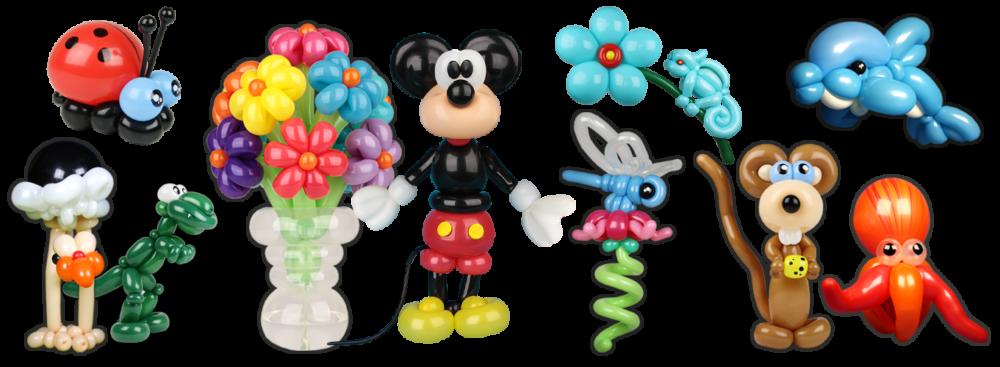 ballonnenclown ballonfiguren collage