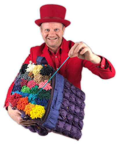 Ballonnenclown met ballonnentas