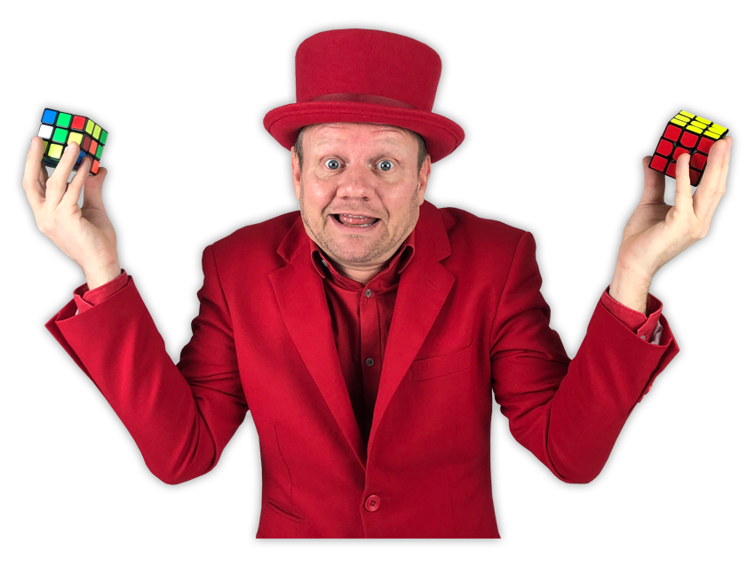 kinderpresentator Pieter rubiks cubes