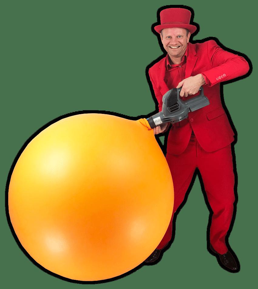 stap in ballon kindervoorstelling op locatie